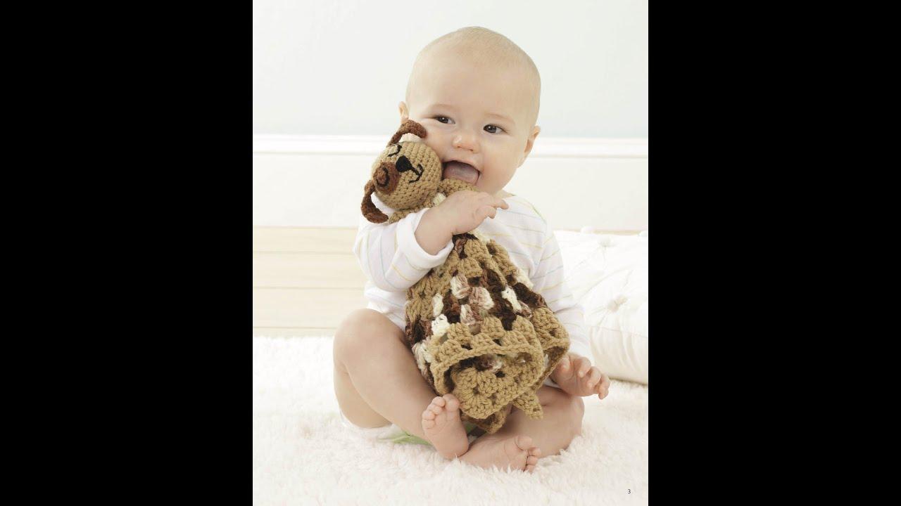 Animal Lovie Blankets Crochet Blankies Pattern Book Preview