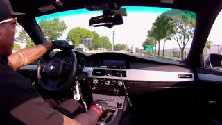 BMW E60 M5 DOING 100+ MPH'S with FULL MEISTERSCHAFT EXHAUST