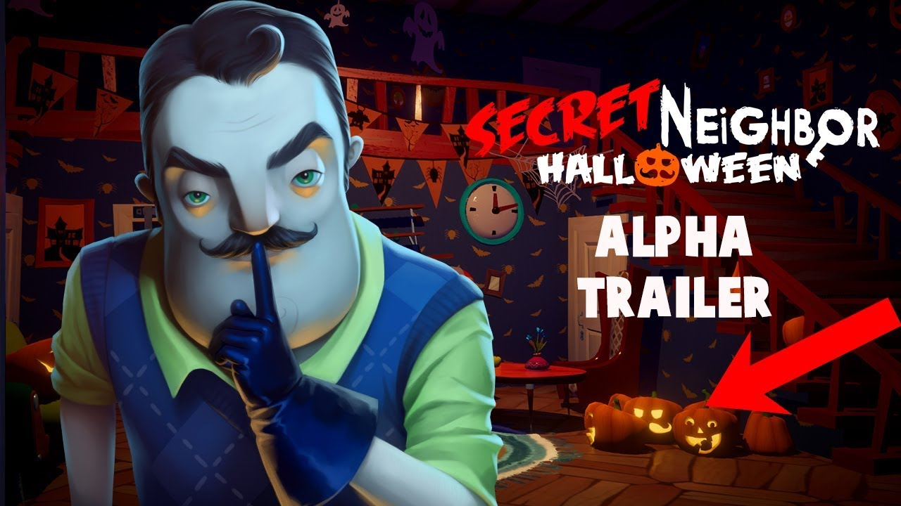 secret neighbor halloween alpha trailer - youtube