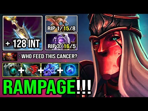 100% NEW IMBA + 128 Intelligence Crazy RAMPAGE MID Silencer 3 Hits Delete Everyone 32 Kills DotA 2