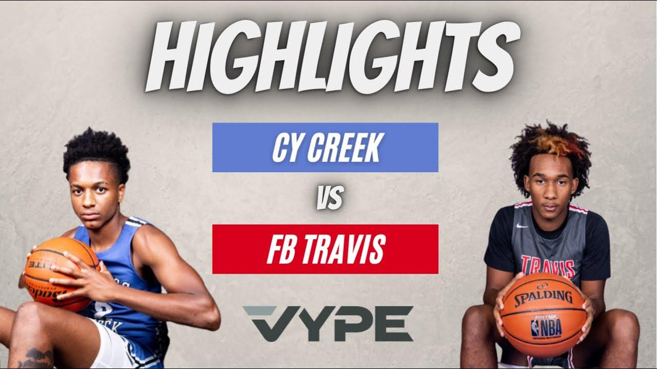Cy Creek Defeats FB Travis HIGHLIGHTS // Basketball Playoffs