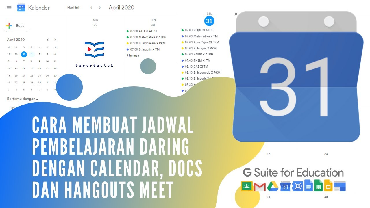 Cara Membuat Jadwal Pelajaran Daring dengan Google Dokumen ...