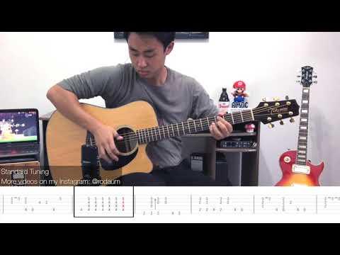 Friends Theme Song Fingerstyle Guitar Lesson FREE TABS Tutorial - Rodrigo Yukio