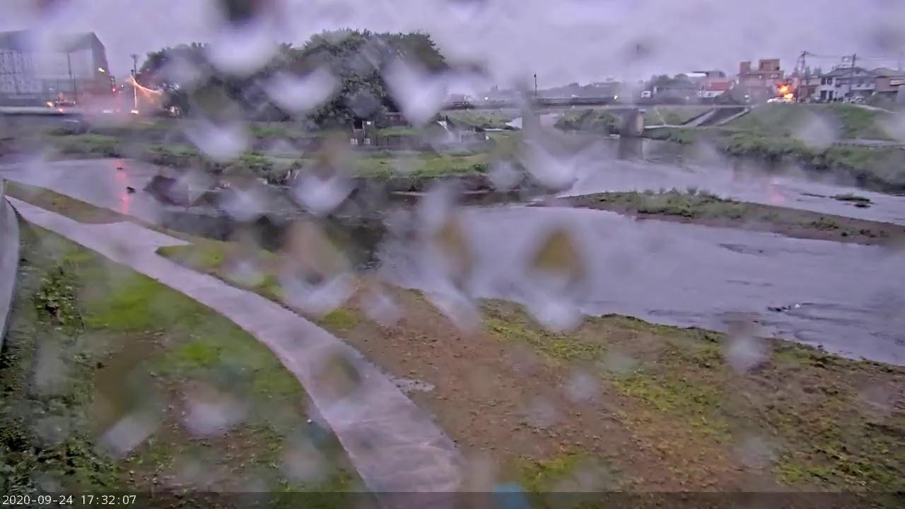 志木市 河川監視カメラ 新河岸側・柳瀬川 合流地点