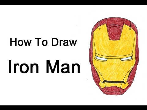 How To Draw Iron Man Head Helmet Youtube