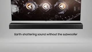 Samsung Sound+ Soundbar: Earth-shattering sound.