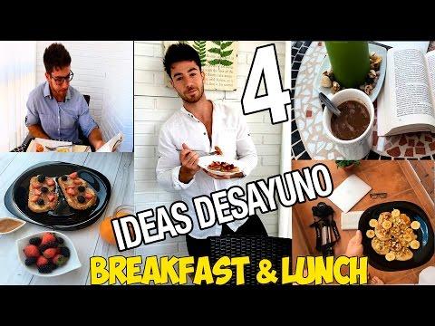 4 Desayunos o Almuerzos IDEAS saludables.