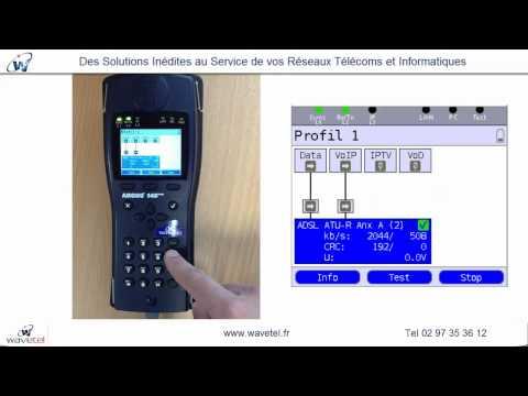 Argus 145 + - Demo Wavetel - Testeur ADSL SDSL VDSL -