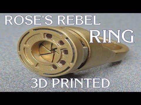 Star Wars Rose's Rebel Alliance Iris Ring, 3D Printed