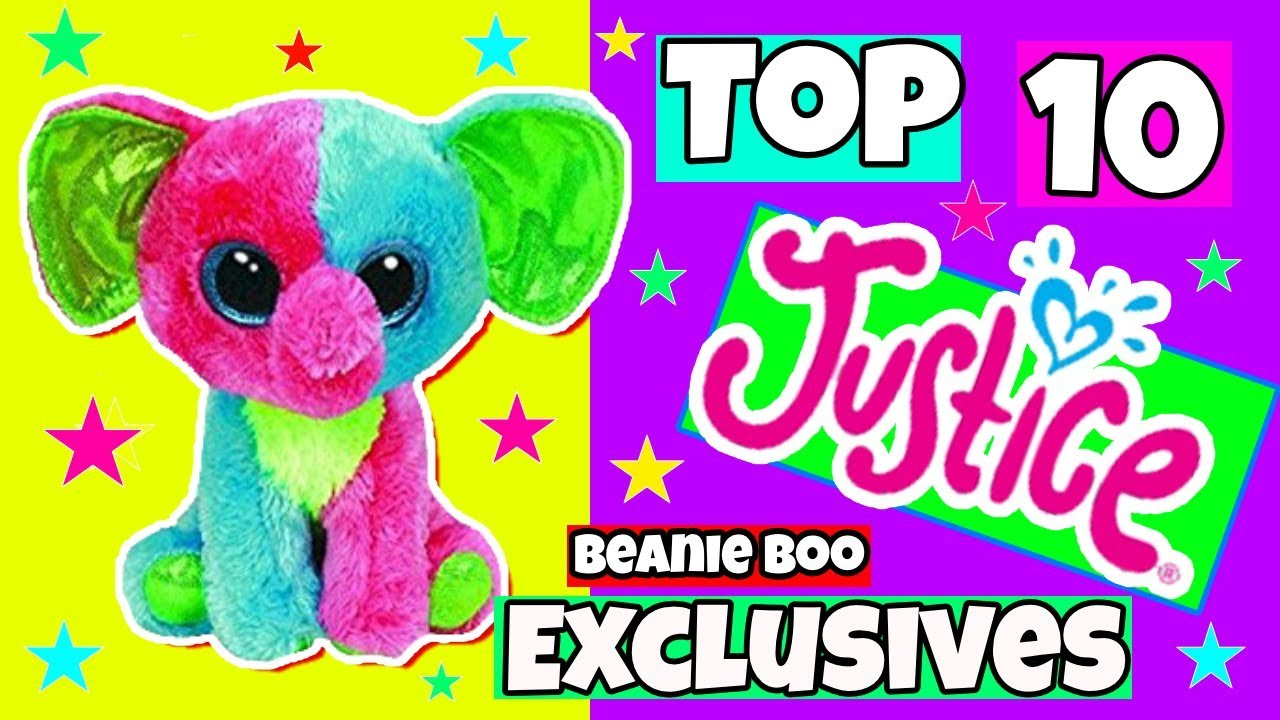 547db161021 Top 10 Justice store exclusive Beanie boos - YouTube