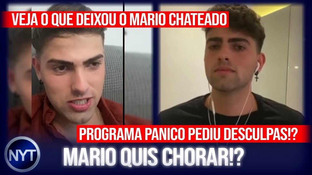 Mario Junior DETONA programa pânico em entrevista ao Matheus Mazzafera e revela o que o chateou