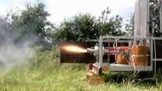 Trust control H2O2 rocket engine
