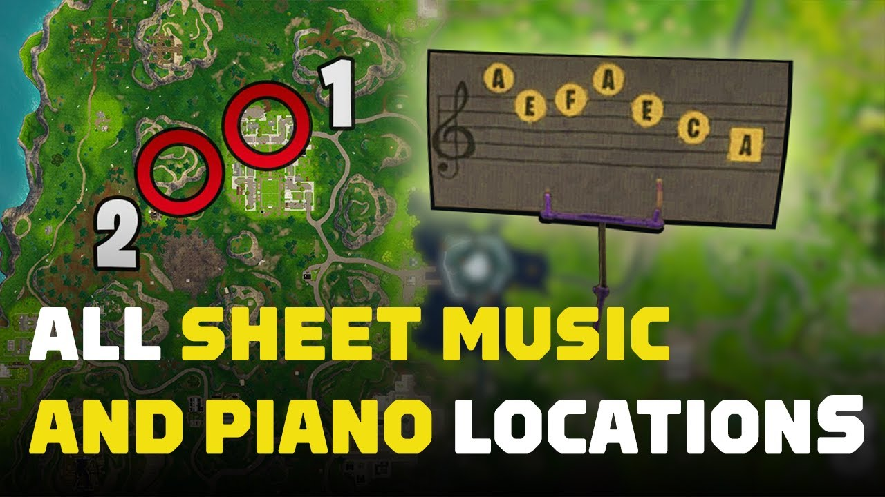 Find a Stand with Sheet Music in Pleasant Park (All Locations)