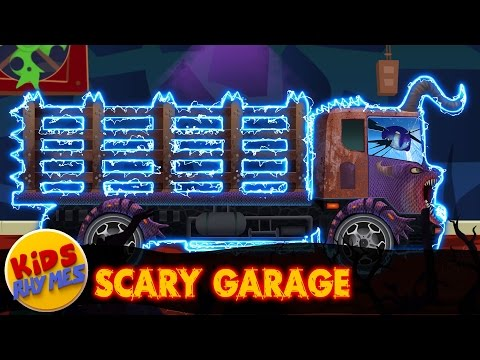 Scary Loading Truck   Car Repair Vehicles   Video For Kids   Scary Car Garage