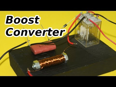 Simple Boost Converter with Relay