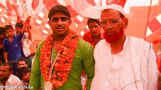 Nasir pahwlan's  welcome ceremony after winning Asian Cadet Silver medal