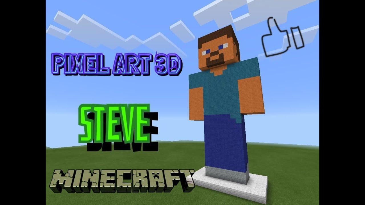 como hacer a steve pixel art minecraft youtube