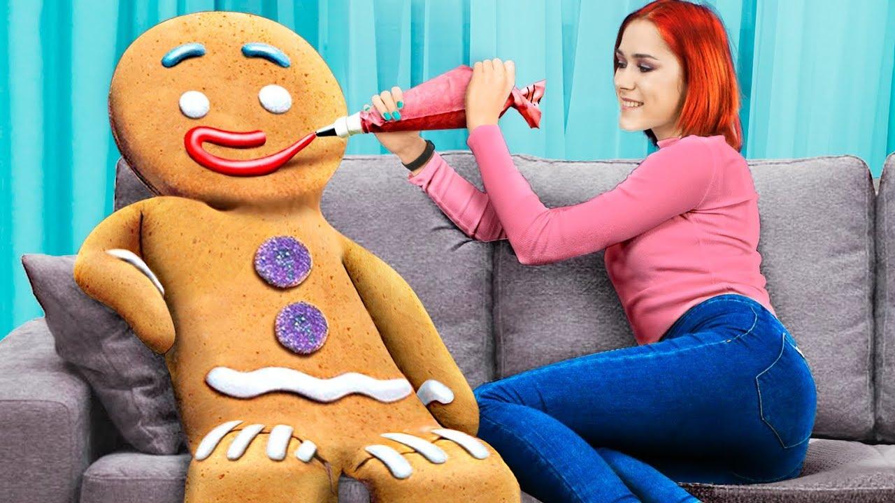 Огромные и миниатюрные новогодние сладости – 8 идей