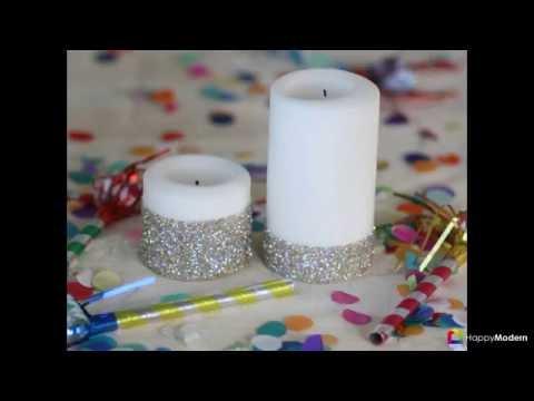 Декупаж свечей (50 фото) мастер-классы с идеями праздничного декора