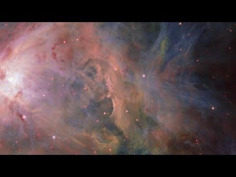 Panning across the Orion Nebula