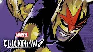 Artist Marcus To draws Nova – Marvel Quickdraw