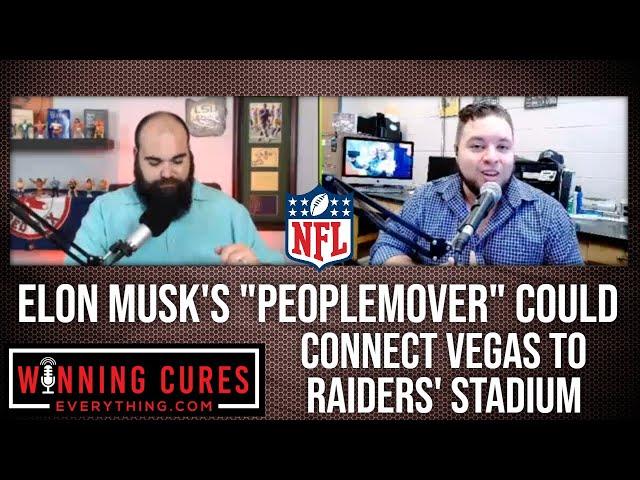 Elon Musk people mover in Las Vegas to Raiders Allegiant Stadium