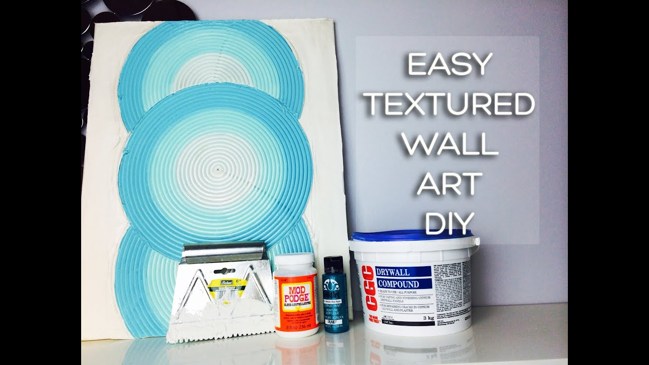 Drywall Mud Craftiness Textured Canvas Art Using Joint Compound Youtube