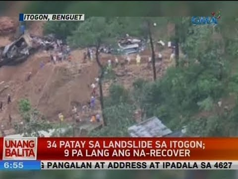 UB: 33 patay sa landslide sa Itogon; paghahanap sa mga nawawala, patuloy