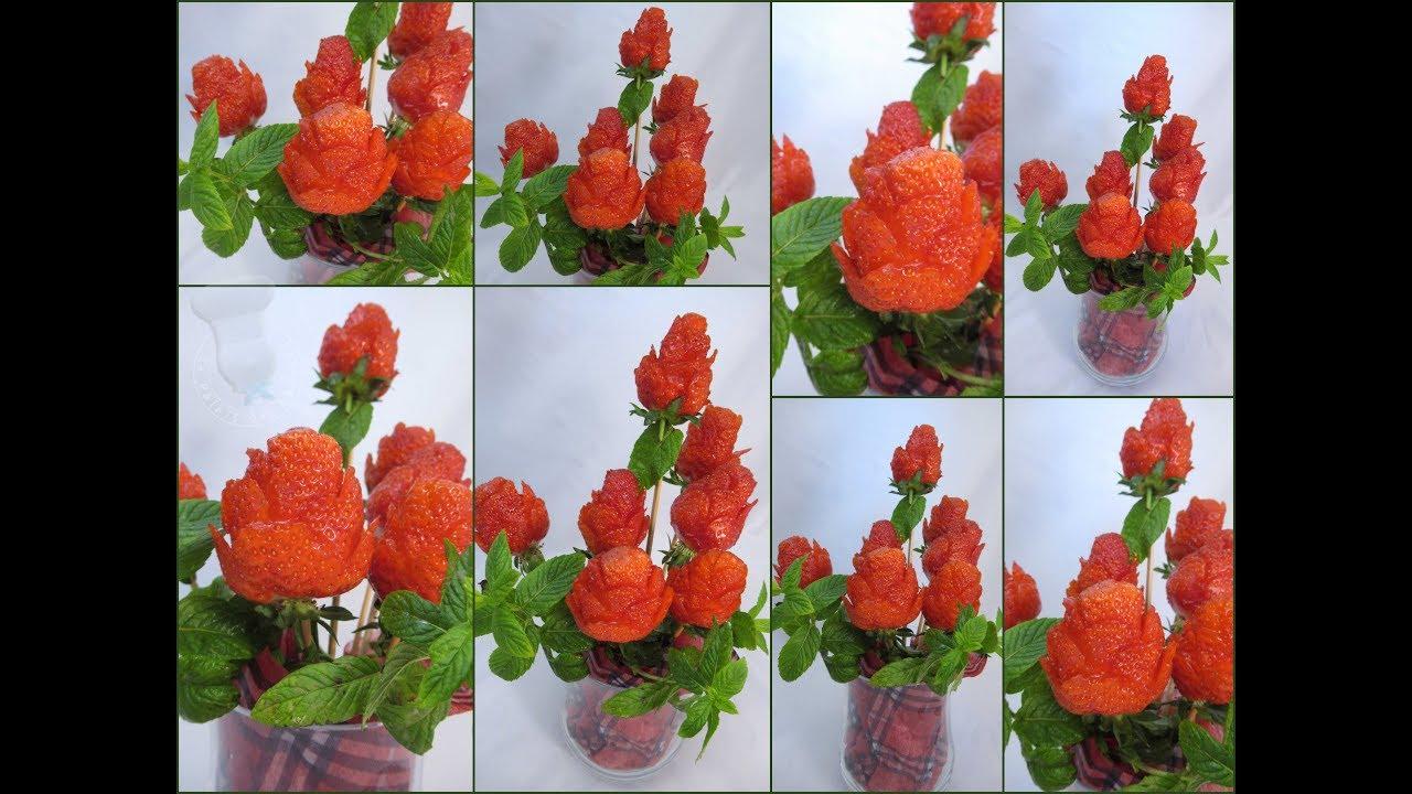 Ultra Comment réaliser un bouquet de roses fraises? - YouTube LN-71