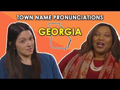 We Try To Pronounce Georgia Town Names