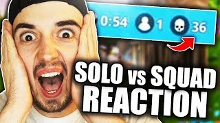OMG: REAKTION auf 36 KILLS SOLO vs SQUAD | Fortnite