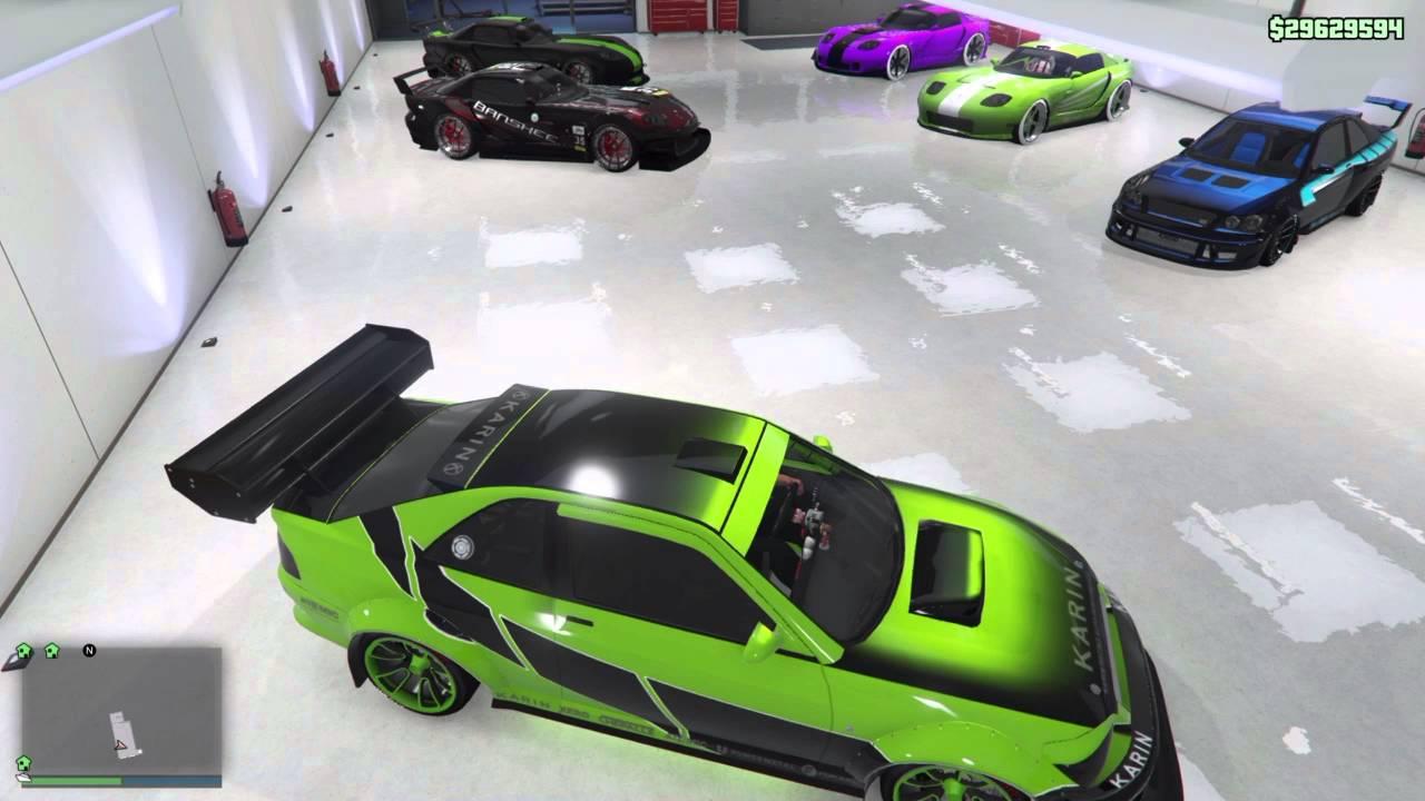 Gta 5 Online Ps4 012 Top 5 Garagen Mit Getunten Autos D Youtube