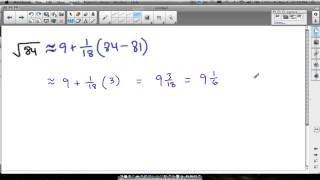 linear approximation square root example