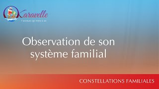 Constellations familiales observation de son systeme familial