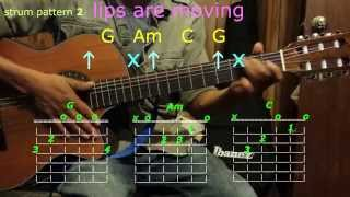 lips are moving meghan trainor guitar chords