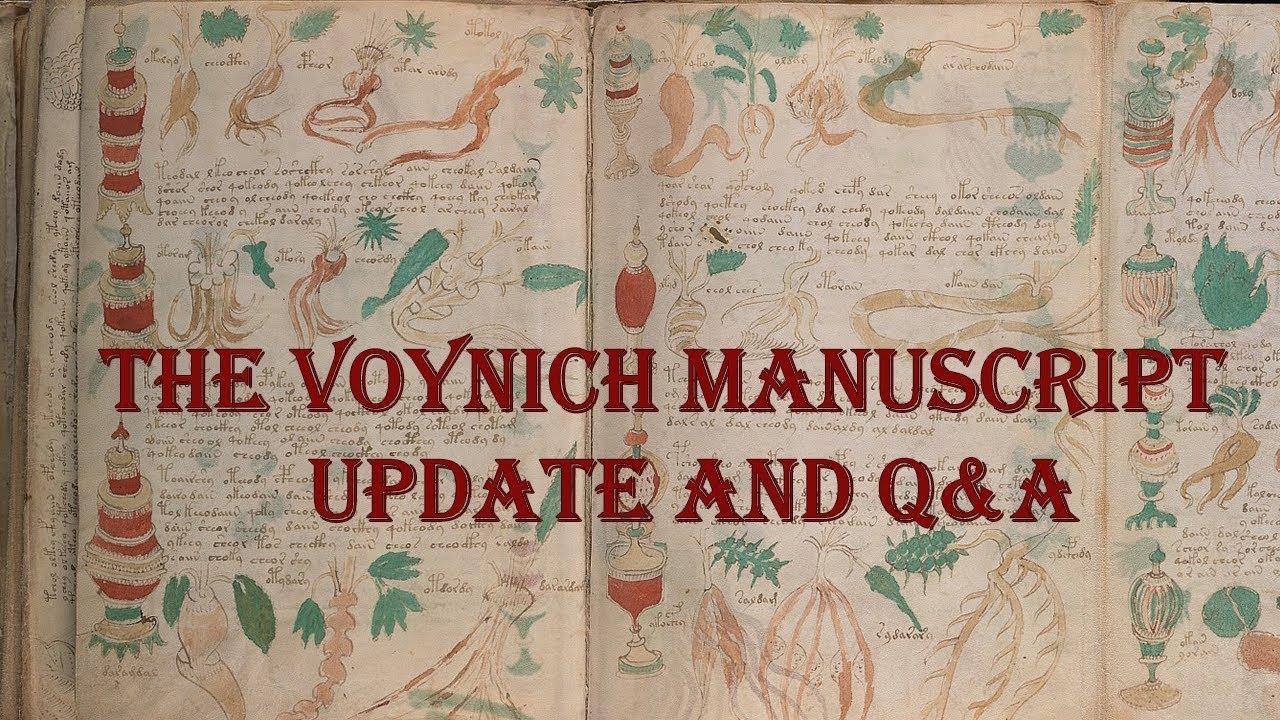 Voynich Manuscript: Update and Q&A