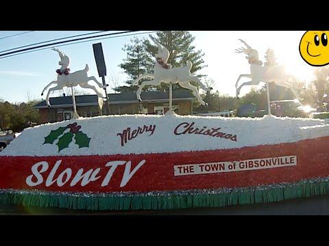 Gibsonville, NC, USA Christmas / Julen Parade 2014 - Slow TV