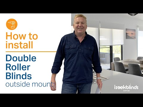 How To Install Double Roller Blinds With A Chain Drive Outside Mount
