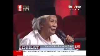 Puisi Politik Gerindra dan PDI Perjuangan part4 @ Debat TVONE 3 April 2014