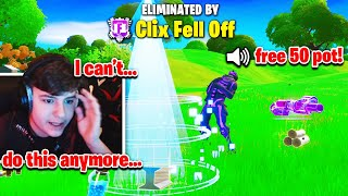 CLIX *QUITS STREAMING* after STREAM SNIPER *RUINS* his CASH CUP! (Fortnite)