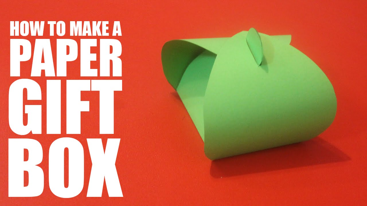 How to make a paper gift box - DIY gift box tutorial - YouTube