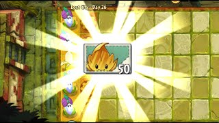 Plants vs Zombies 2 Walkthrough (Android) - Lost City Part 2 Day 26 Get Gold Leaf