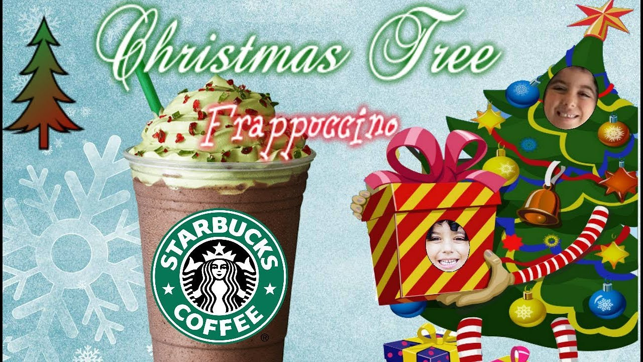Trying Starbucks Christmas Tree Frappuccino Youtube