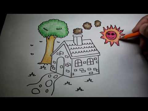 บ้านน้อย ฉบับปรับปรุงใหม่ สอนวาดรูปการ์ตูนน่ารักง่ายๆ สอนวาดรูปการ์ตูนระบายสี