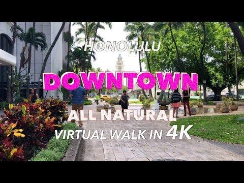 Downtown Honolulu Walk 4/3/2018 [4K]