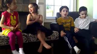 Kids singing Apple Bottom Jeans