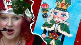 Nutcracker Beginner Acrylic Painting tutorial The Art Sherpa and Ginger Cook Live