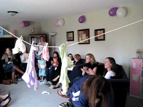 Clothesline Baby Shower Game Youtube