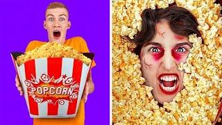 PRANK HOROR HALLOWEEN || Kiamat Zombie! Ide DIY Kostum Halloween Oleh 123 GO! CHALLENGE