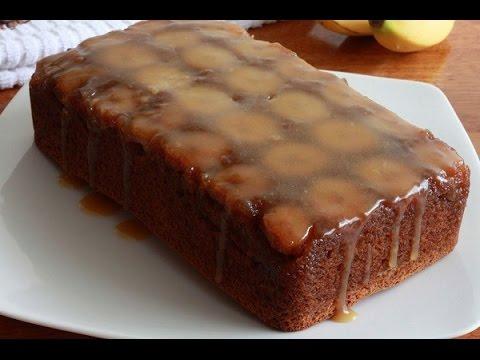 """Bánh Chuối Nướng Phủ Caramel Kiểu """"Úp Ngược"""" Ngon Mê Li"""